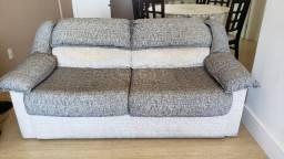 Sofá Cama casal usado em tecido. Não é chaise longue, é cama mesmo.