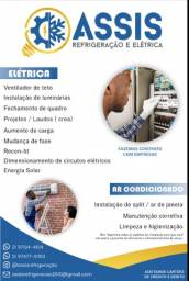 Instalação e manutenção de ar condicionado e serviços de elétrica em geral