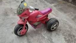 Moto elétrica bandeirantes rosa 6v infantil