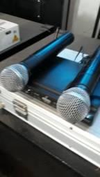 Kit de microfones pra bateria.Karset e um kit shure
