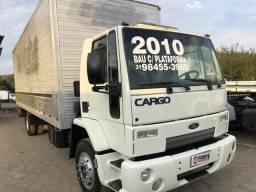 Ford cargo 1317 2010 com Bau plataforma - 2010