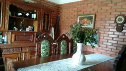 Sala de Jantar Completa - Madeira Maciça Cerejeira Envelhecida- 8 cadeiras