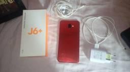 Celular Samsung J6 + vermelho