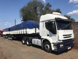 Conjunto Iveco Stralis 460 2012 6x4 mais 9 eixos basculante Guerra 2012 - 2012