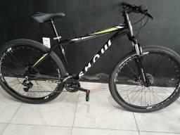 Bike aro 29 show, com 24 velocidades, nova