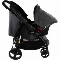 Carrinho De Bebê Travei System Nexus Preto Mescla - Cosco