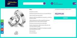 Alianças de Compromissos /Prata 950 de lei