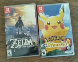 Zelda e case Pokémon para Nintendo Switch