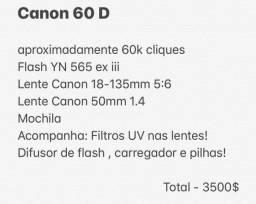 Canon 60D + equipamento