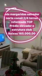 Jds margaridas prédio com elevador 2/4 terreo reformado TOP 165.000,00