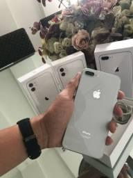 iPhone 08 plus silver 64G garantia Apple até 06/2021