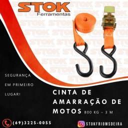 Cinta para Amarração e Catraca de moto