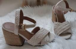 Sandália Corda tamanho 35 (Nova)