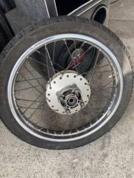 roda completa moto fan 125