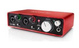 Interface De Áudio Scarlett 2i2 Geração 3 - Focusrite (novo na caixa - original)