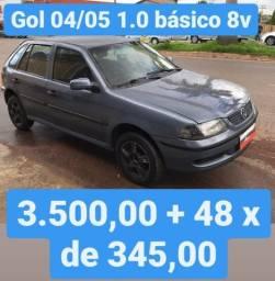 Gol G3 04/05 1.0 basico 8v 3.500,00 mais 48 xde 345,00