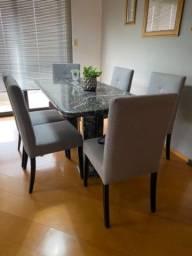 Mesa de jantar com 6 cadeiras da Herval!! Um ano de uso