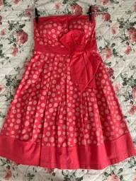 Vestido feminino Colmeia bolinhas TAM P usado