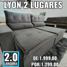 Sofá Lyon 2 Lugares na Promoção!!!