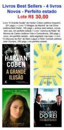 Livros Best Sellers - 4 livros - Novos - Perfeito estado - Lote R$ 30,00