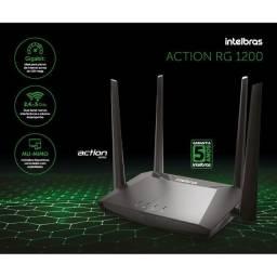 Título do anúncio: Roteador intelbras ACtion RG 1200 Wi-Fi 5 (dual band AC 1200) com portas giga10x S/juros