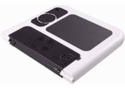 Mesa Suporte P/ Notebook C/ Cooler Mousepad Porta Copos e Ajuste de Níveis