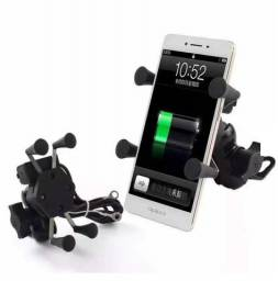 Título do anúncio: Suporte de Moto p/Celular  Aranha Com Carregador USB