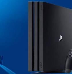 Playstation 4 pro com 2controles+jogos.