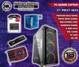 PC Gamer Intel Pentium Gold G6400 + GT 1030 + HyperX 8gb + SSD + HD - Loja Natan Abreu