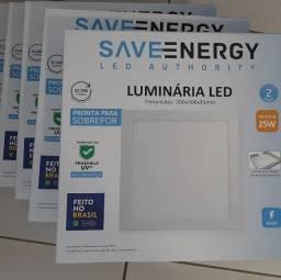 Luminárias led plafon sobrepor 25w 4000k Save Energi