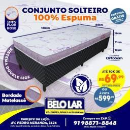 Cama Ortobom Solteiro De Espuma, Compre no zap *