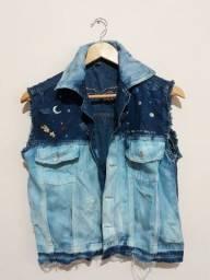 Jaqueta jeans customizado seminovo
