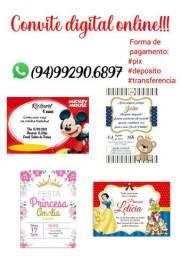 Convite digital online