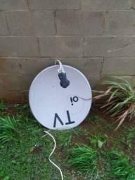 Vendo antena parabólica de 60cm com lnb duplo