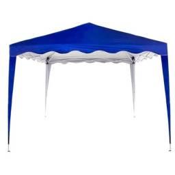 Tenda Gazebo Sunfit Dobrável Articulada Base 3x3m, Azul