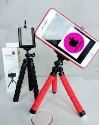 Tripe flexível 25cm celulares e câmeras