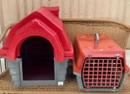 Casinha e caixa de transporte PET