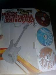 Curso completo de guitarra dvd eo livro