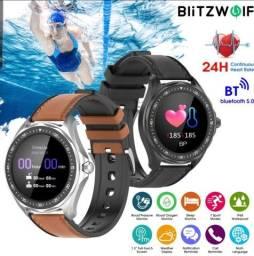 Blitzwolf HL3 - Pulseira em Couro Smartwatch