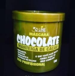 Mascara hidratação de chocolate da 3d line profissional