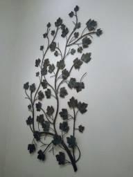 Decoração Quadro Em Ferro Modelo Folhas De Outono Feito  Mão