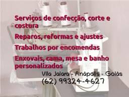 Serviços de confecção, reparos e ajustes