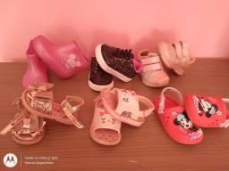 Lote roupas e calçados menina 1 ano