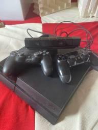 Título do anúncio: PS4 console + 2 controle + câmera de movimento