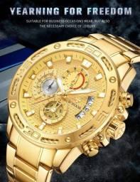 Relógios Masculinos (Aço Inoxidável: vários modelos)