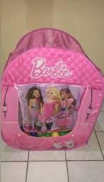 Cabana da Barbie, em perfeito estado com 90 bolinhas coloridas