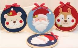 Bastidor, Flâmula, enfeite porta Natal - Decoração natalina em feltro