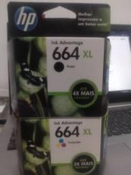 Cartucho HP 664xl Black e Cartucho HP 664xl Color