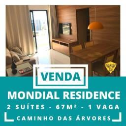 Apartamento 2 quartos 64m² 1 vaga Mondial Residence