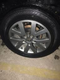 Rodas tr4 aro 17  com pneus meia vida.